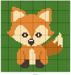Stitch Fiddle is an online crochet, knitting and cross stitch pattern maker. - Stitch Fiddle is an online crochet, knitting and cross stitch pattern maker. C2c Crochet Blanket, Graph Crochet, Crochet Fox, Tapestry Crochet, Crochet Blanket Patterns, Crochet Cross, Cross Stitch Baby, Cross Stitch Animals, Cross Stitch Charts