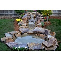 L & W Stone Waterfall, Stream & Pond in a Box™