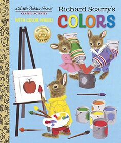 Buy LGB Richard Scarry's Colors by Kathleen N. Daly at Mighty Ape NZ. In celebration of the anniversary of Little Golden Books, this rare classic from the beloved Richard Scarry is back in print! Richard Scarry f. Childhood Toys, Childhood Memories, I Love Books, My Books, Richard Scarry, Little Golden Books, Vintage Children's Books, Children's Book Illustration, Book Illustrations