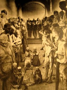 The Mummies of Guanajuato Mexico (photograph) . The Mummies of Guanajuato are a number of naturally mummified bodies interred during a cholera outbreak around Guanajuato, Mexico in Mummified Body, La Danse Macabre, Post Mortem, Horror, Bizarre, Weird World, Paranormal, Resident Evil, Old Photos