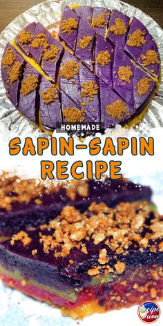 Homemade sapin-sapin recipeSapin-Sapin is a colorful Filipino food made from sticky rice. It is classified as sticky rice cake. It attracts people here and there, mostly because of its colors. The usual color of this Filipino Dishes, Filipino Desserts, Filipino Food, Filipino Recipes, Pinoy Recipe, Recipe Recipe, Casava Cake Recipe, Macapuno Recipe, Sapin Sapin Recipe