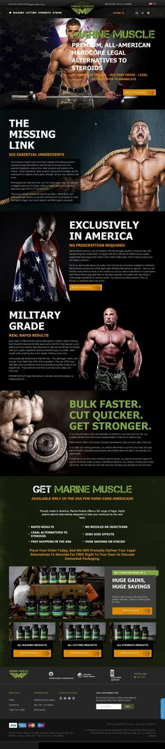 #MarineMuscle  #BodyBuilding #legalsteroidsforsale #legalsteroidsforsale #StrengthSupplementpacks #womenbodybuilding #bodybuildingmisc #legalsteroidsamazon #legalanabolicsteroids #MarineMuscle #legalsteroidsusa  Marine Muscle  Marine Muscle all-American, premium steroid alternative supplements are made in the US and are available exclusively in America only. The brand's striking, military themed branding, website design and copy holds strong appeal to patriotic US customers and will…