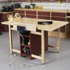 Drop Leaf Workbench Plans