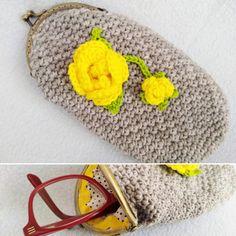 Funda de gafas elaborada en crochet