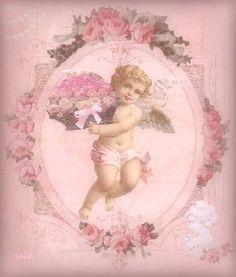 Rose cherub made by shabbyartangel http://www.pinterest.com/shabbyartangel/pretty-backgrounds-graphic-postcards-images/