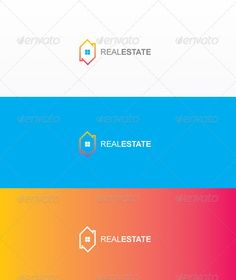 Real Estate Logo Design Template Vector #logotype Download it here:  http://graphicriver.net/item/real-estate/2375291?s_rank=1717?ref=nexion
