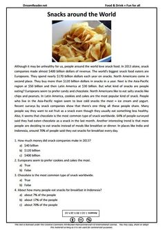 Free esl worksheet all about the worlds biggest burger http free esl worksheet about snacks around the world httpdreamreader forumfinder Choice Image