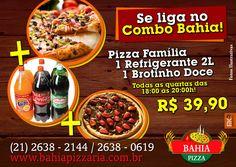 Promoção de Quarta-feira!! #BahiaPizzaria #Combo #VemPraBahiaPizzaria