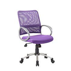 Boss Mesh Mid Back Multipurpose Task Chair, Purple/Black/Pewter Item #  898534