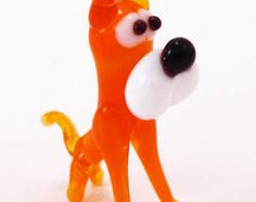 Mini Glass Dog Animals Little Figurine Gift