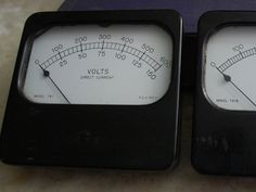 Pair of working 4i Inch Burlington DC Volts and DC MA Analog Panel Meters by ourPastourFuture on Etsy