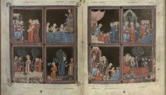 The Golden Haggadah, Spain, 14th century.