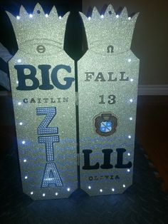 Original one of a kind Big and little paddle ♡♥♡ ZTA #sorority