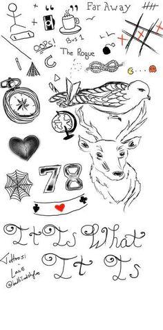 Louis' tattoos.