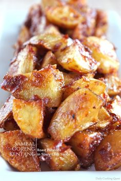 Sambal Goreng Kentang - Roast Potatoes in Spicy Chili Sauce