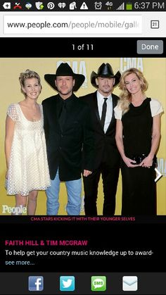 Tim McGraw and Faith Hill with their younger selves