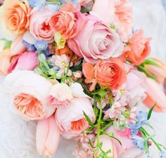 Fresh cut flowers ready for a floral bouquet
