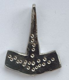 Pewter Thor's Hammer with Punch Decorations on a by irenedavis1, $20.00