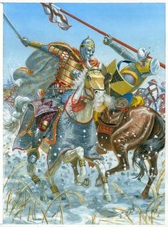 Alexander Nevskij at the Battle of the Ice. History of Russia Medieval Knight, Medieval Armor, Medieval Fantasy, Good Knight, High Middle Ages, Knight Armor, Knights Templar, Dark Ages, Military History