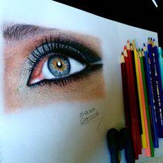 My realistic eye drawing with colored pencils..Renkli kalem göz çizim çalışmam..  #Pencil #Drawing #PencilDrawing #ColoredPencil #ColoredPencils #RealisticDrawing #HowToDraw #Çizim #PortraitDrawing #PortreÇizimi #Portrait #Portre #Illustration #Art #PencilArt #Photorealistic #Sanat #Resim #ResimÇizimi #GözÇizimi #EyeDrawing