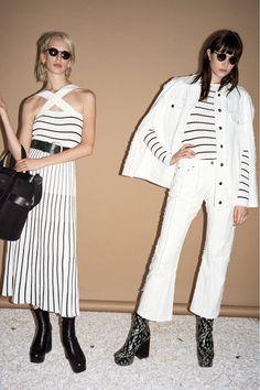 2019 resort Sonia Rykiel stripe rib pullover and circular rib skirt