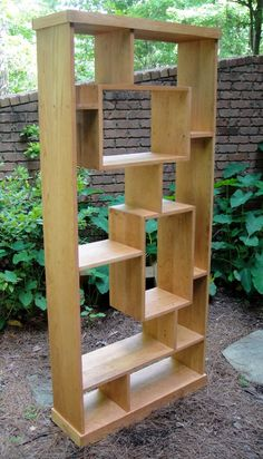 Bookcase or Room Divider Cherry Shadowbox - Raum Teiler Pallet Patio Furniture, Wood Diy, Diy Furniture, Woodworking Projects, Room Divider Bookcase, Bookshelves Diy, Bookcase, Pallet Furniture, Wood Furniture