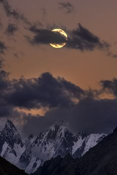 Moonrise in Karakorams, by Mobeen Mazhar