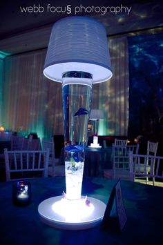 This unique centerpiece will be a show stopper for your guest and can incorporate your under the sea theme.
