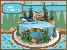 Gone Fishing Cake for Father's Day