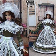 """Robe barbie """" n°7 centre """" tenue pour poupée barbie f3788"""