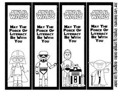 Your students will love these Star Wars themed bookmarks! 4 different designs