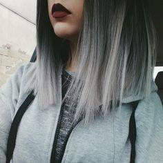 New Hair Gray Balayage Highlights 17 Ideas Dye My Hair, New Hair, Grunge Hair, Hipster Grunge, About Hair, Silver Hair, Silver Ombre, Gorgeous Hair, Hair Looks