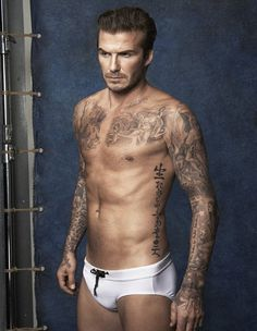 Pin for Later: David Beckham Is Sexy and Shirtless in His New H&M Campaign  Source: H&M