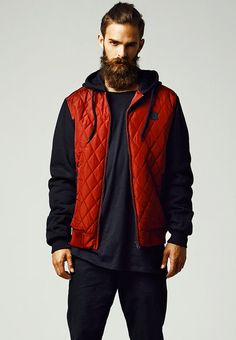 Hooded Diamond Quilt Nylon Jacket - Portofrei bei Rudestylz! #fashion #jacket #jacke #nylon #style #urban #streetwear http://www.rudestylz.de/diamond-nylon-jacket.htm