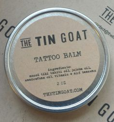 Tattoo Balm --- The tin Goat