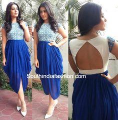 Raashi Khanna in Sonali Srivastav photo Indian Designer Outfits, Indian Outfits, Designer Dresses, Dress Neck Designs, Designs For Dresses, Churidar, Anarkali, Lehenga, Dhoti Saree