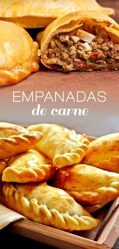 This is a very traditional Mexican dish, it is also made in some places were Spanish cuisine has become increasingly popular. It is very simple to make and they work perfect for breakfast, lunch and d Mexican Dishes, Mexican Food Recipes, Beef Recipes, Cooking Recipes, Ethnic Recipes, Argentina Food, Argentina Recipes, Beef Empanadas, Good Food