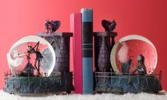 The Nightmare Before Christmas snowglobe Bookends
