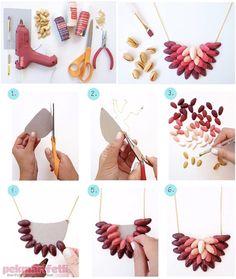 Antep fıstığı kabuklarından kolye yapımı | Takı Tasarım | Pek Marifetli!