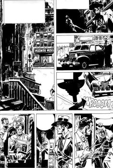 Comic Book Layout, Comic Book Pages, Comic Books Art, Comic Style Art, Comic Styles, Comic Frame, Jordi Bernet, Black And White Comics, Graphic Novel Art
