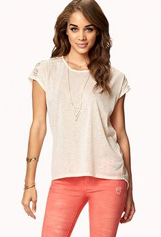 Crocheted Slub Knit Top | FOREVER 21 - 2050230436