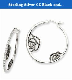 Sterling Silver CZ Black and White Hoop Earrings. Sterling Silver CZ Black and White Hoop Earrings. Model Number: QCM752 . Feature Highlights: Quality: Sterling-silver. Primary Metal composition: Silver. Spectacularly Designed. Flawless Finish. . Stone Type: Cubic Zirconia. Stone Creation: Synthetic. Got questions about this item? If you wish to know any additional info or have any additional questions regarding this item, please don't hesitate to send us an email. We will answer any...