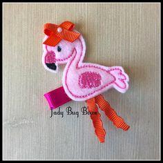 Flamingo Hair Clip, Flamingo Hair Clippy, Flamingo Feltie Clip, Flamingo Felt Hair Clip, Flamingo Felt Clip, Hair Clip, Hair Clippy,