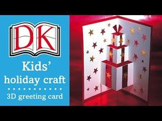 Kids' Christmas Craft: 3D Greetings Card - YouTube