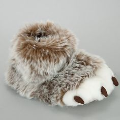 Buy John Lewis Boy Claw Slippers, Brown Online at johnlewis.com