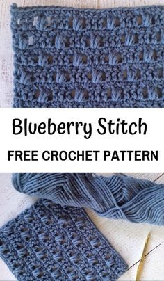 Free Crochet Pattern for the Blueberry Stitch! Learn how to crochet bobbles with this easy crochet tutorial. How to Crochet the Blueberry Stitch—Free Crochet PatternRachel, 12 Jan PM I'm excited to share with you the crochet stitch in my crochet Crochet Gratis, Free Crochet, Knit Crochet, Crochet Cable Stitch, Tunisian Crochet, Learn To Crochet, Crochet Afghans, Crochet Stitches Patterns, Knitting Patterns