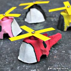 DIY Egg Carton Mini 'Copters - Top 50 DIY Summer Crafts Try to Make and Fun - DIY & Crafts