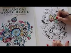 Coloring Book Speed Drawing - Botanical Wonderland by Rachel Reinert; Apr 2016 time 2:00   #rachelreinert #botanicalwonderland #adultcoloring