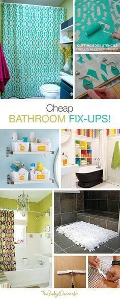 Using craft papers, paints, and soft white cloth you can create these easy bathroom fix-ups. They ideally serve the purpose.