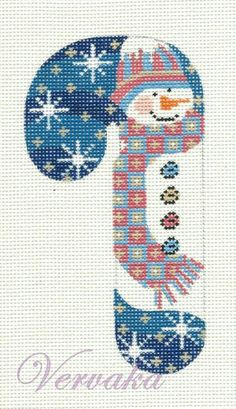 snowman candy cane needlepoint, CH Designs from Danji